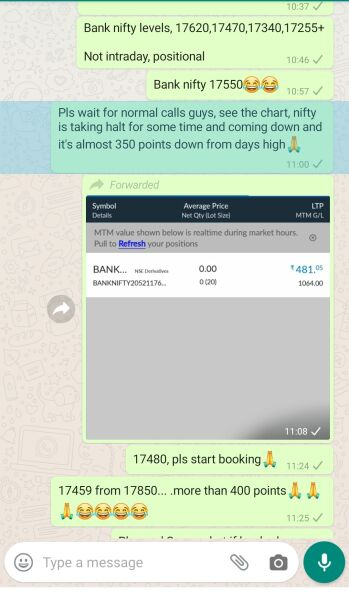 Intraday Cash and Option calls - 801275