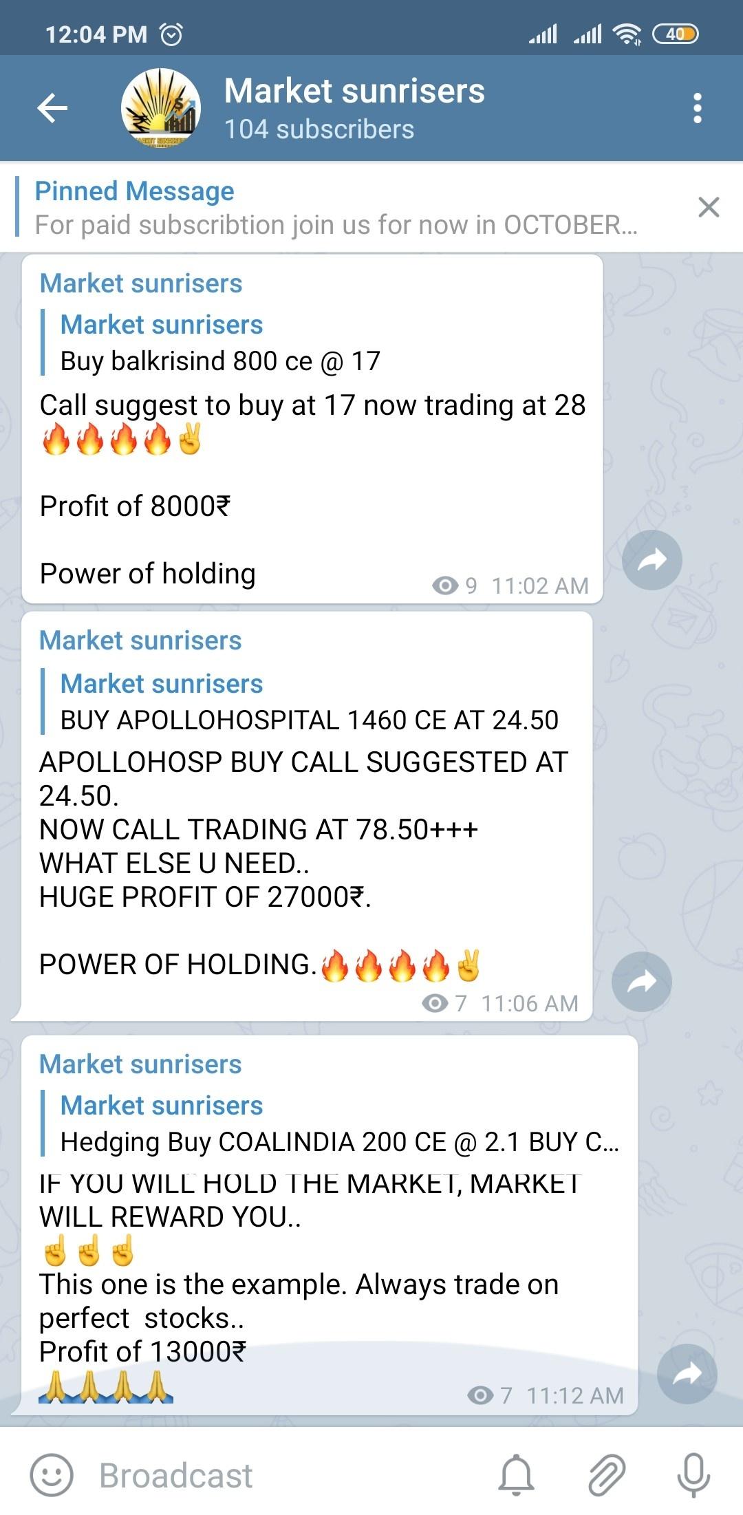 @marketsunrisers's activity - 404977