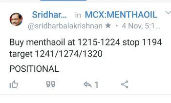 MCX:MENTHAOIL - 425836