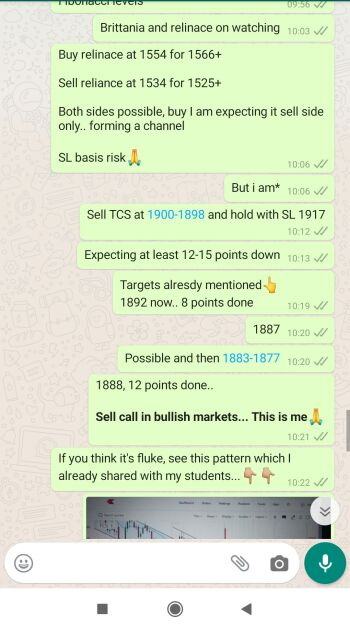 Intraday Cash and Option calls - 777092