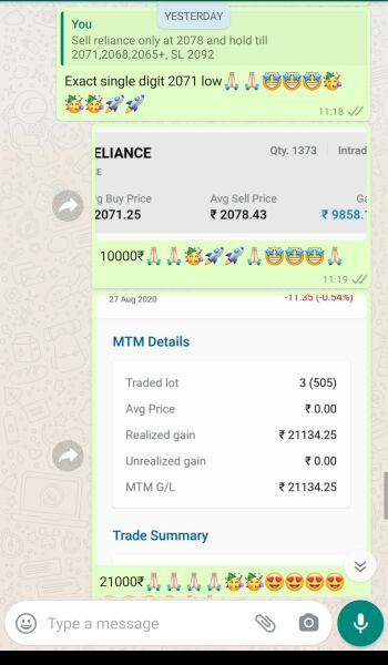 Intraday Cash and Option calls - 1210521