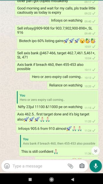 Intraday Cash and Option calls - 1063426