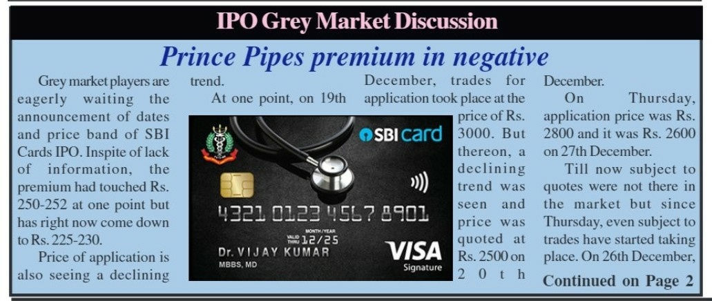 IPOs and New Issues - 501636