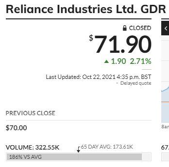 RELIANCE - 5449407
