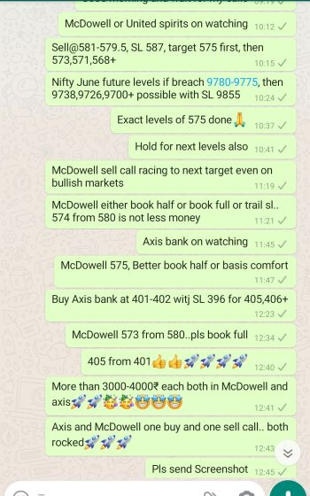 Intraday Cash and Option calls - 852302