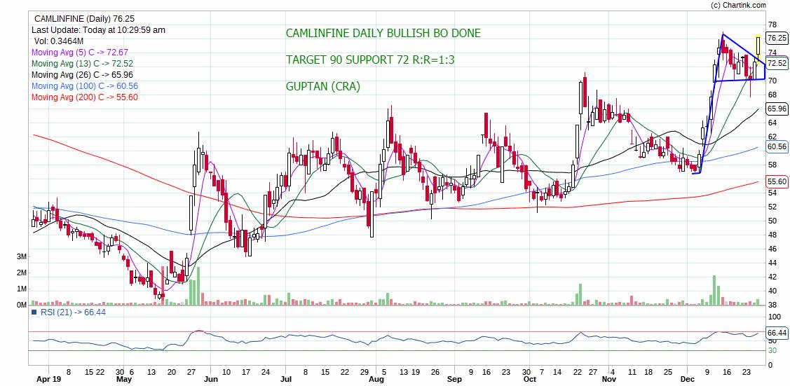 CAMLINFINE - chart - 499668