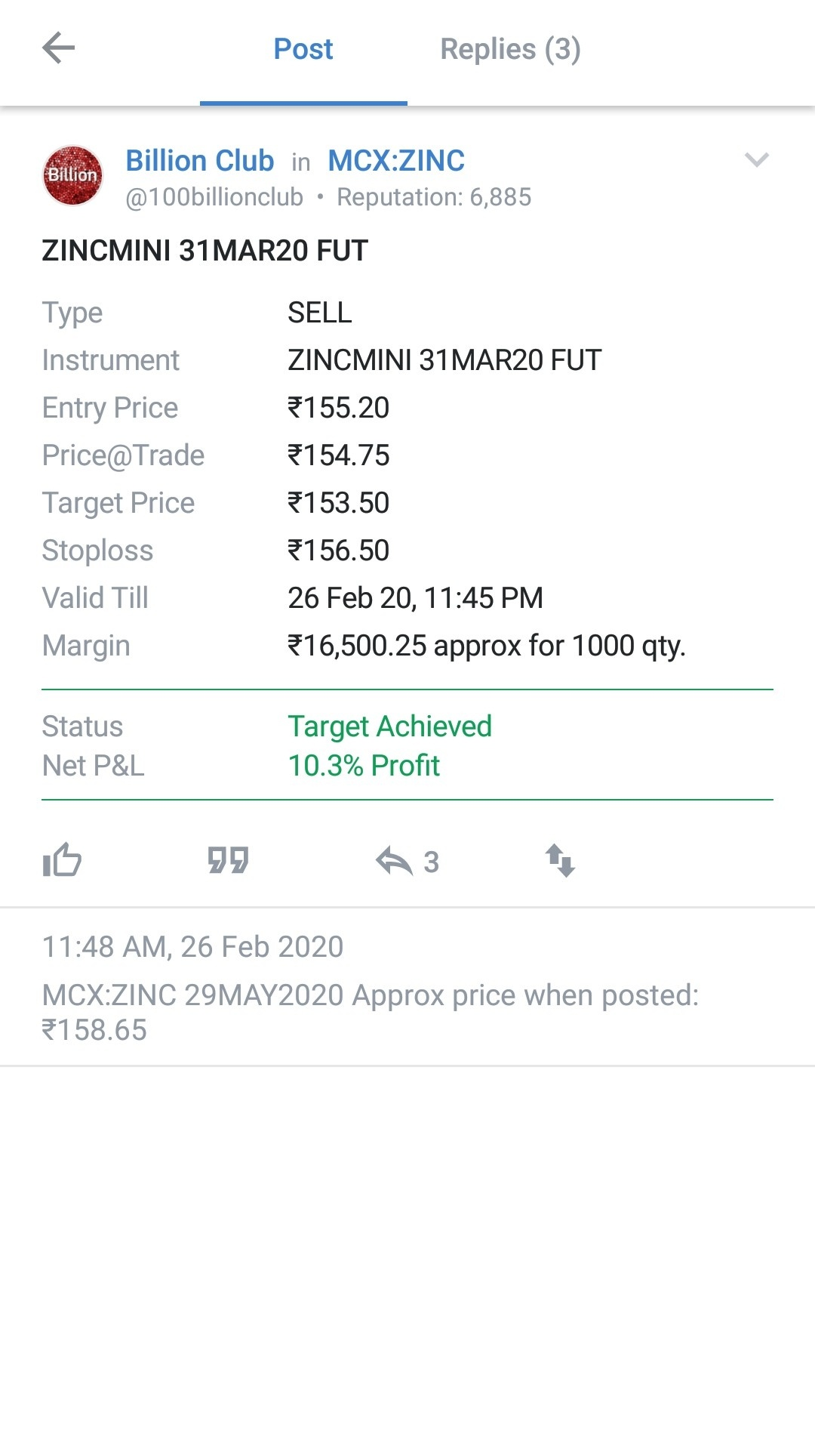 MCX:ZINC - 626077