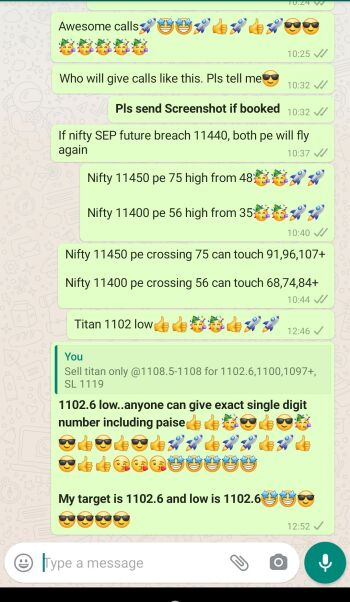 Intraday Cash and Option calls - 1252572