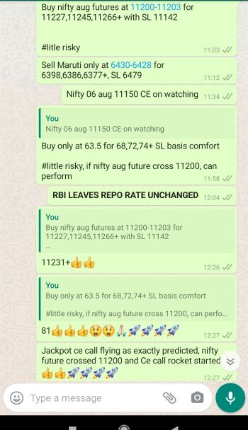 Intraday Cash and Option calls - 1125064