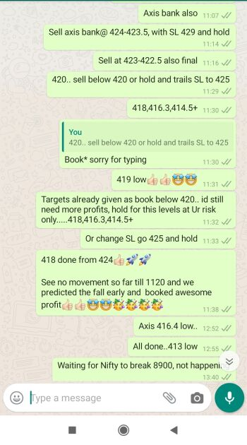 Intraday Cash and Option calls - 728831