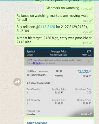 Intraday Cash and Option calls - 1173472