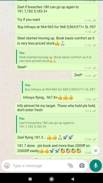 Intraday Cash and Option calls - 1181165