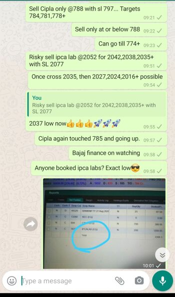 Intraday Cash and Option calls - 1140233