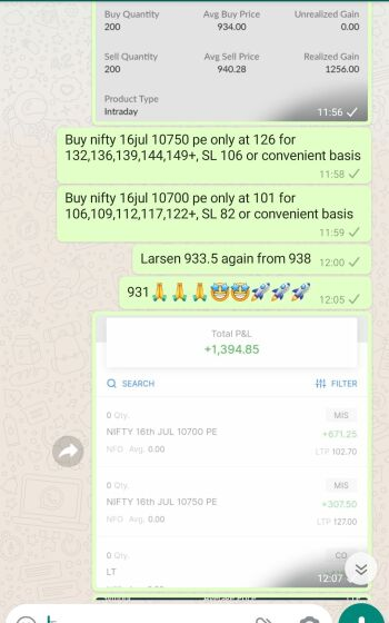 Intraday Cash and Option calls - 1011390
