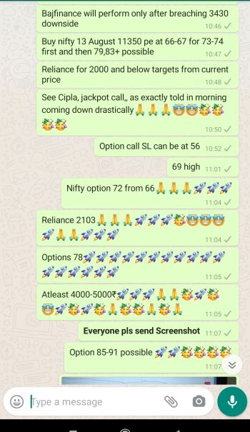 Intraday Cash and Option calls - 1140483