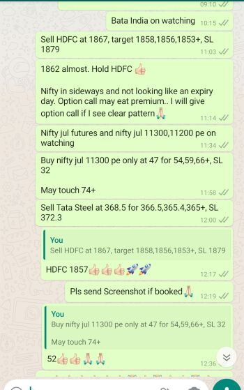 Intraday Cash and Option calls - 1093982