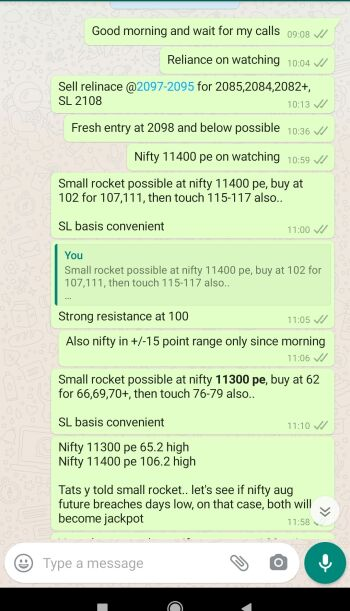 Intraday Cash and Option calls - 1196471