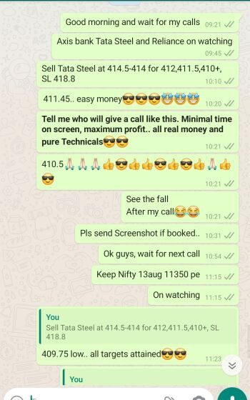 Intraday Cash and Option calls - 1154587