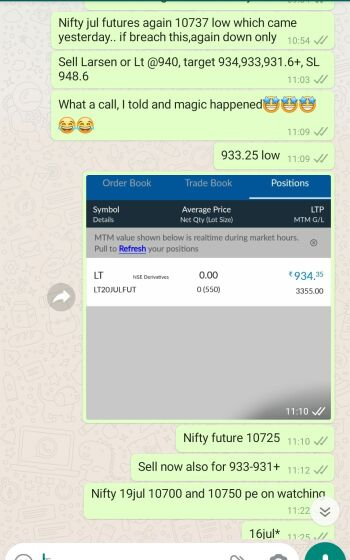 Intraday Cash and Option calls - 1011146
