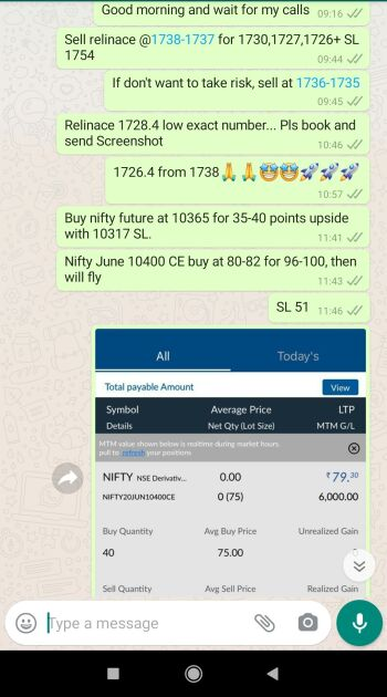 Intraday Cash and Option calls - 939617