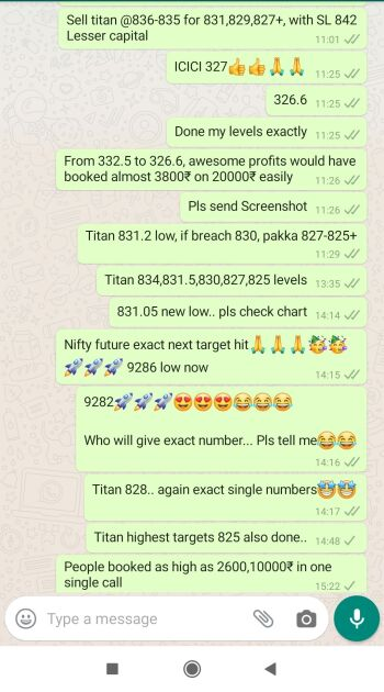 Intraday Cash and Option calls - 780504