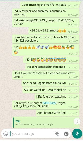 Intraday Cash and Option calls - 749312