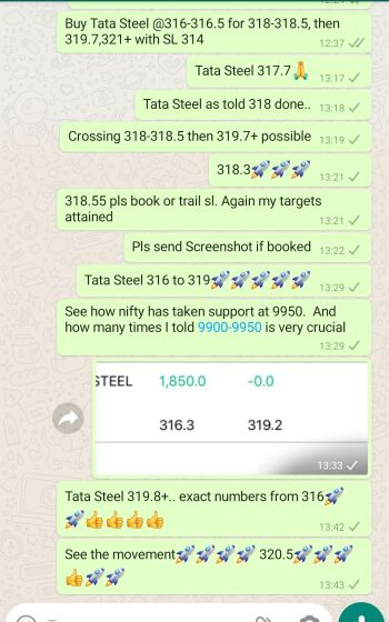 Intraday Cash and Option calls - 863041